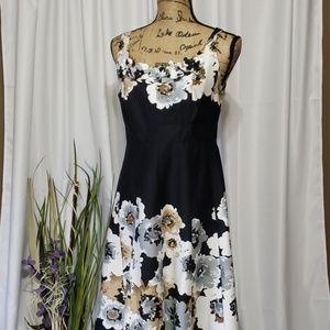 Dressbarn Sheath Floral Sleeveless Dress